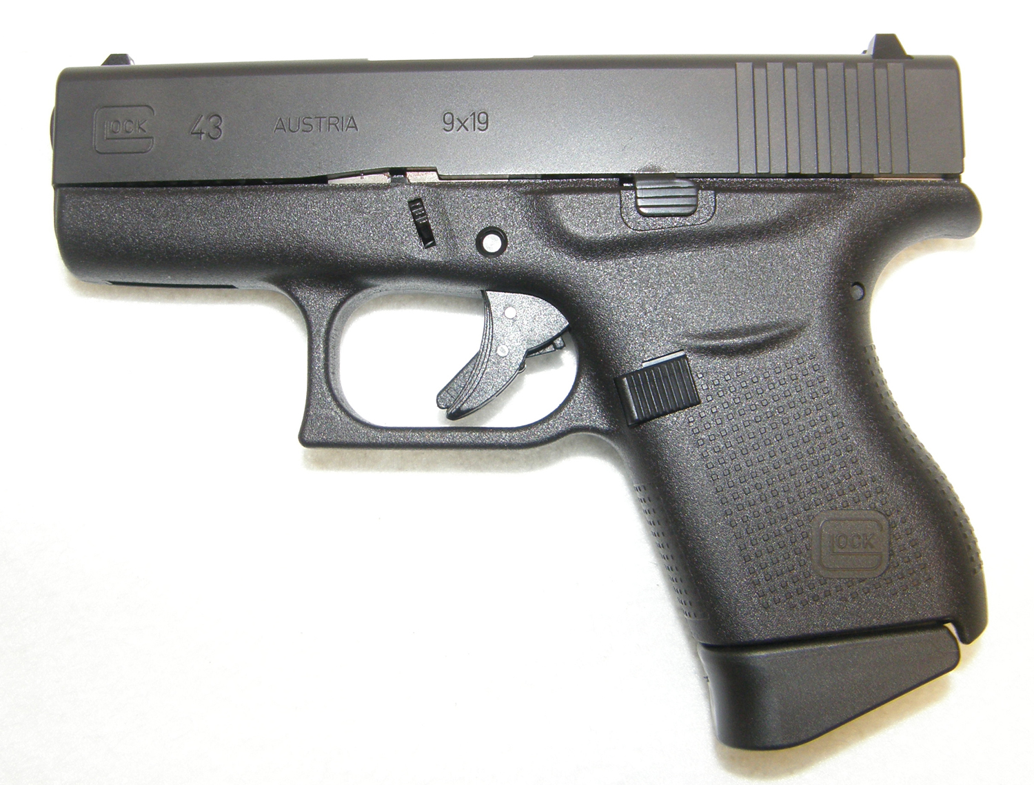 Glock 43 9mm Compact Semi-Auto Pistol (New) | Rare Collectible Guns, Antiques, Collector ...