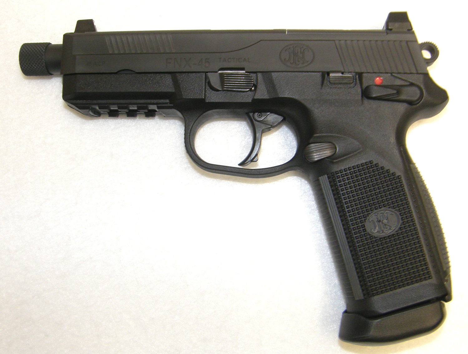 Fnh usa fnx 45 tactical threaded barrel pistol with night sights used