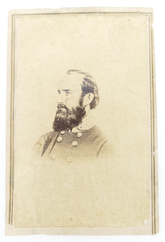 Civil War CDV of Confederate General Stonewall Jackson