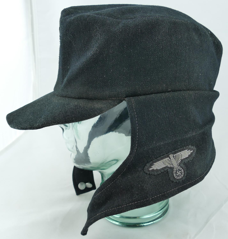 Very rare German Nazi SS Panzer Black Wool Hat