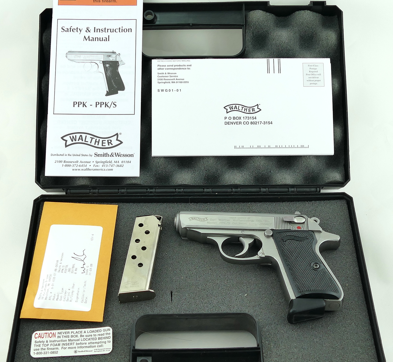 sold walther ppk s 380 acp pistol stainless finish excellent rh ponyexpressfirearms com James Bond with Walther PPK S James Bond Walther PPK 380