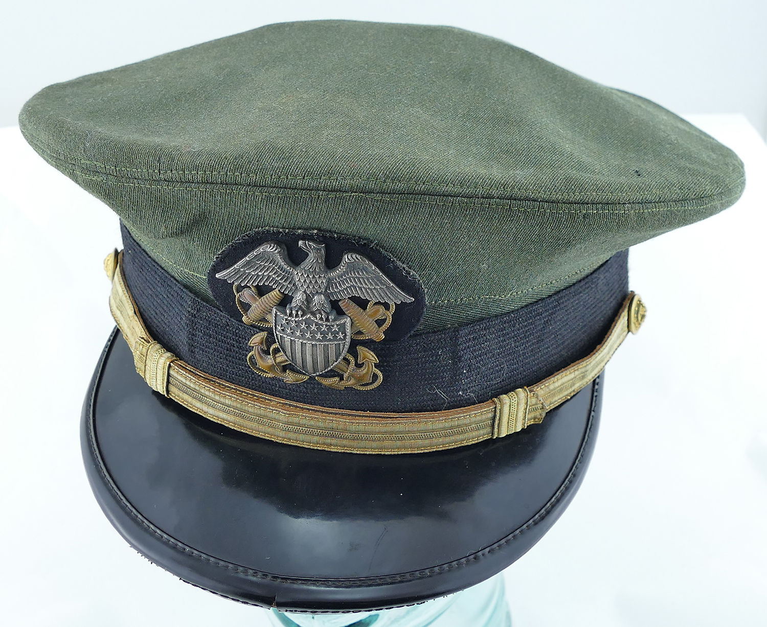 US Navy Aviation Officers Visor Cap. SOLD.  US Navy Aviation Officers Visor Cap 2 US Navy Aviation Officers Visor Cap 3  US Navy Aviation Officers Visor Cap 4 ... 7b95402b9d5