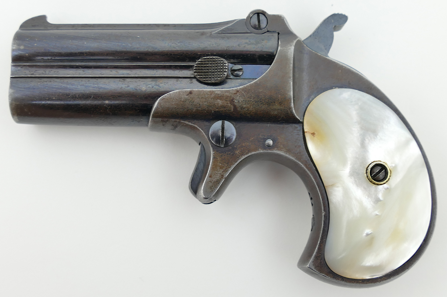 Remington Double Derringer  41 Short Revolver, 1904-1910 Mfg Date with  Pearl Grips (Used)