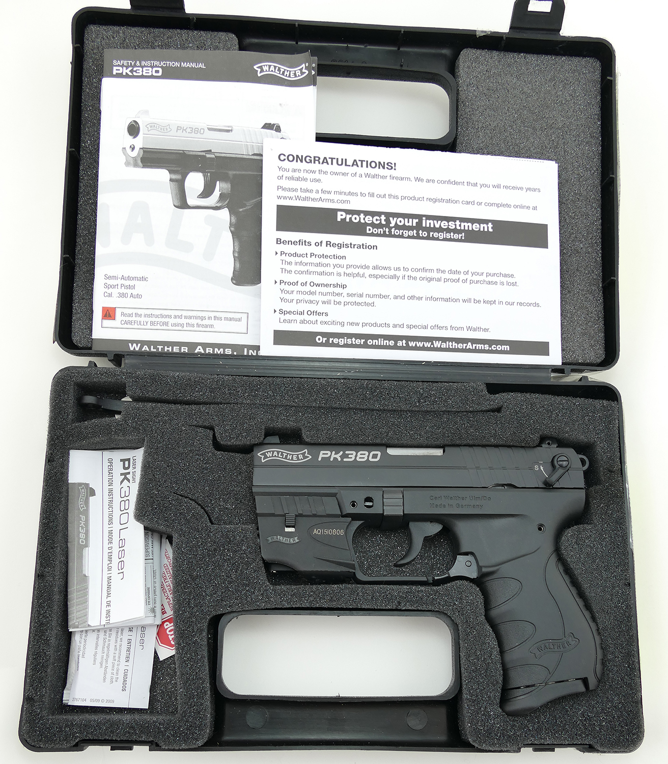Walther PK380  380 Pistol with Factory Laser, Like New (Used)