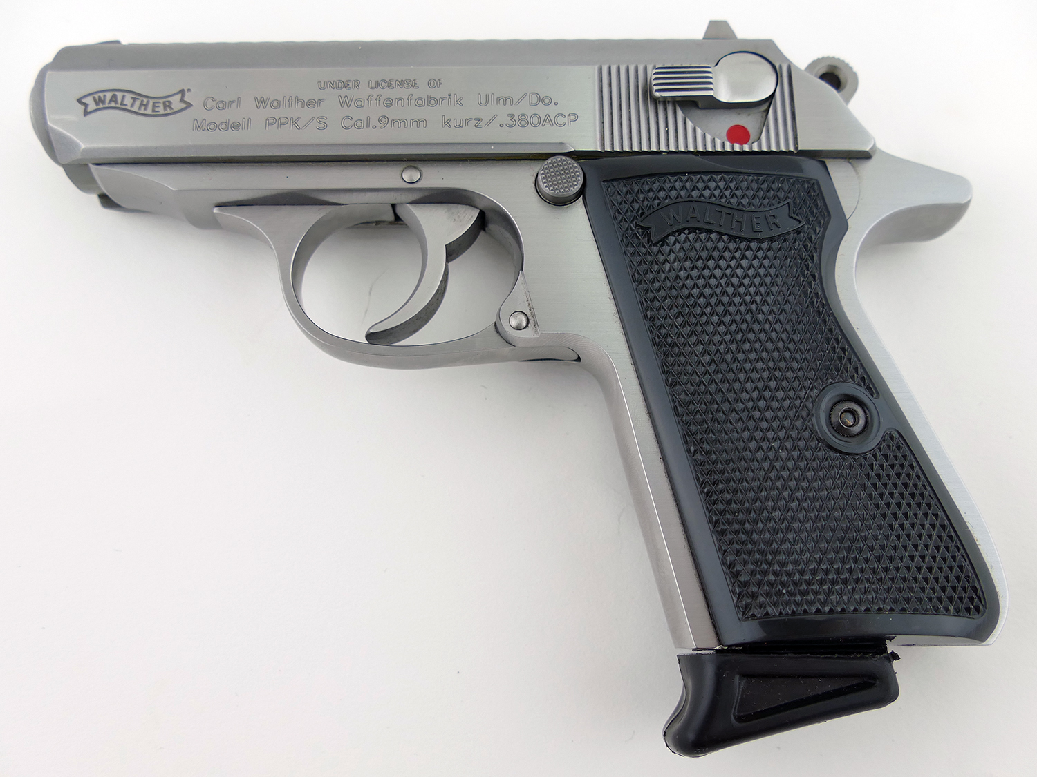 walther ppk s 380 acp stainless finish like new in box used