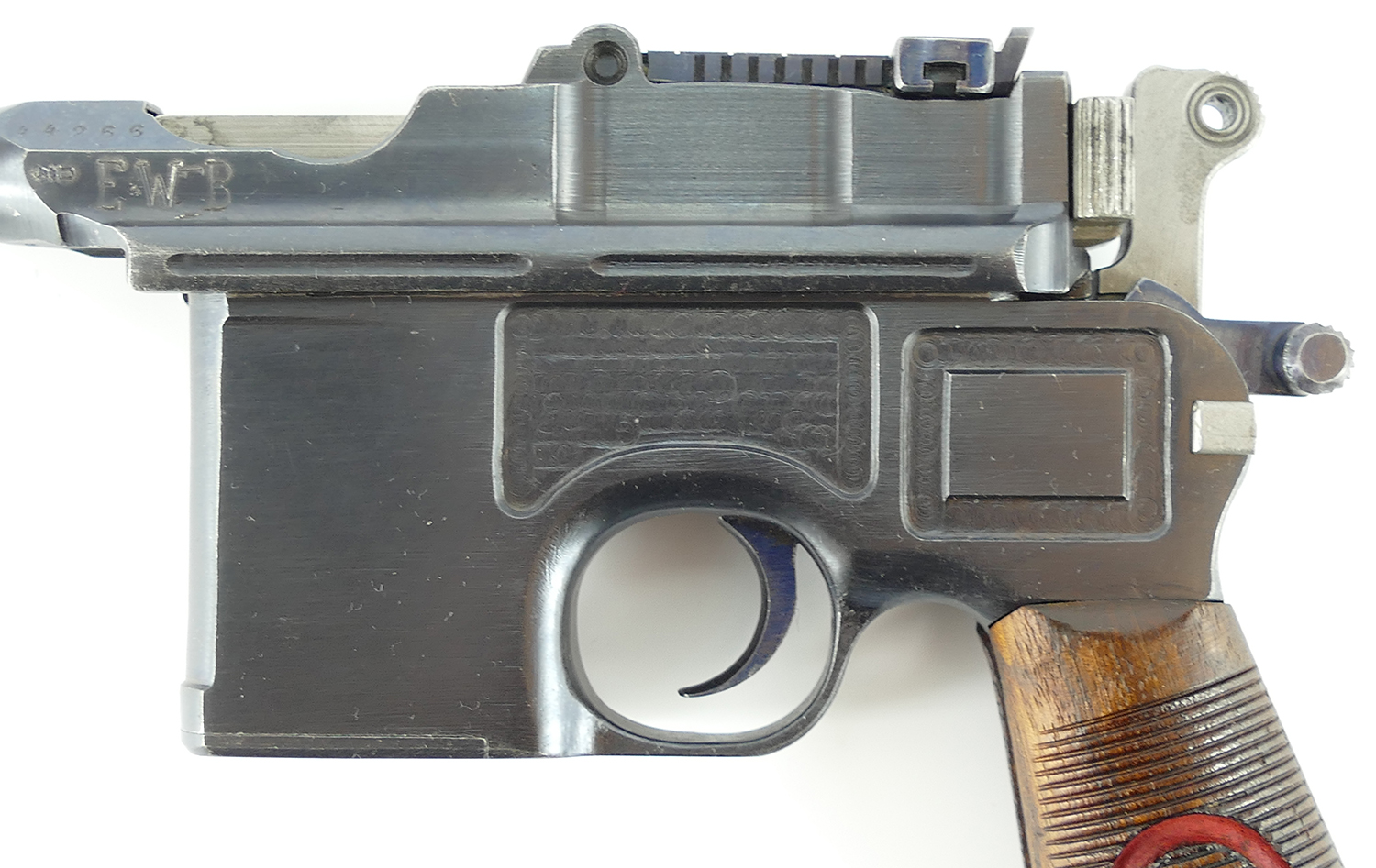 Gorgeous All Original Wwi Mauser Quot Red 9 Quot C 96 Broomhandle Pistol Used Rare Collectible Guns Antiques Collector Firearms Used Guns
