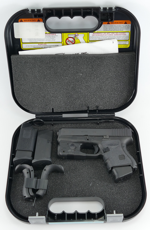 Glock 26 Gen 4 9mm Pistol With Trijicon Night Sights Light Laser